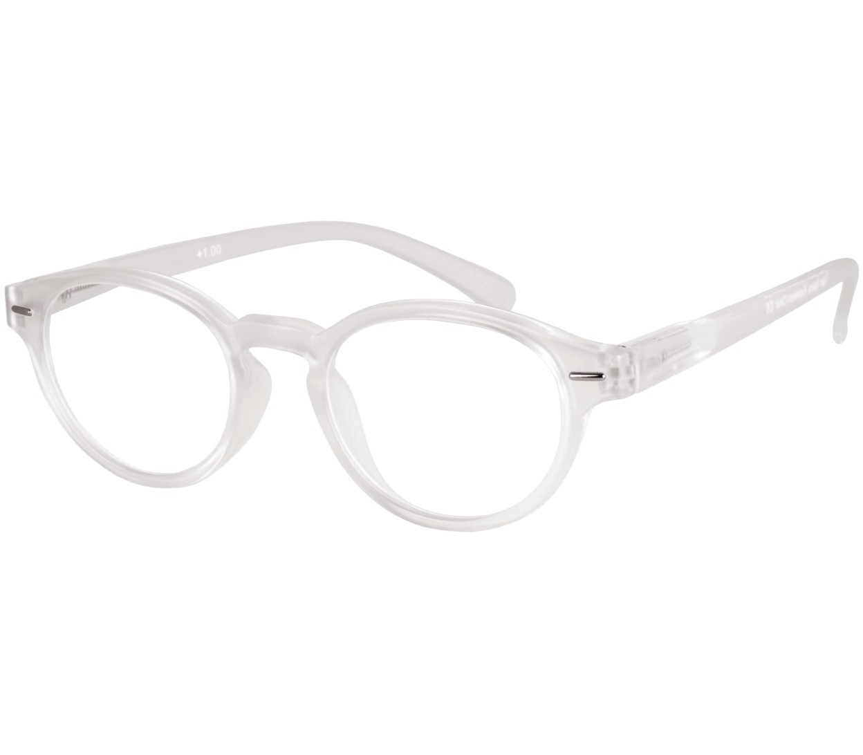 Main Image (Angle) - Espresso (Clear) Retro Reading Glasses
