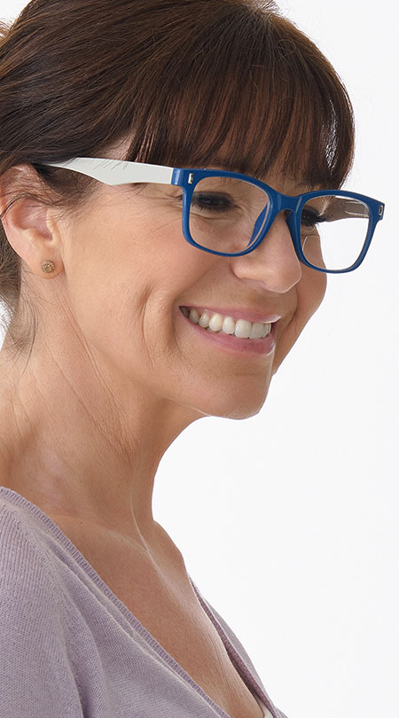 Otter (Blue) Bifocal Reading Glasses - Thumbnail Model Image