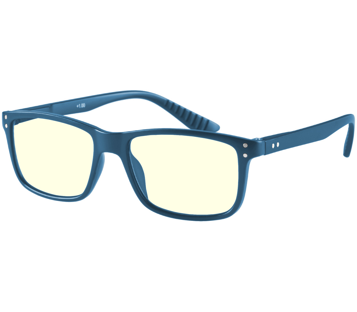 Main Image (Angle) - Austin (Blue) Computer Glasses Reading Glasses