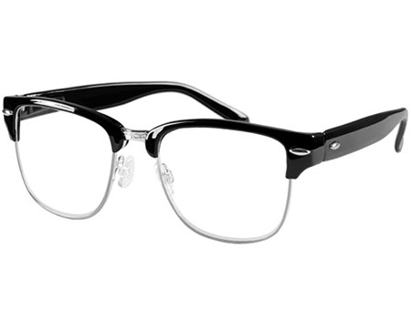 Harvard (Black) Retro Reading Glasses - Thumbnail Product Image