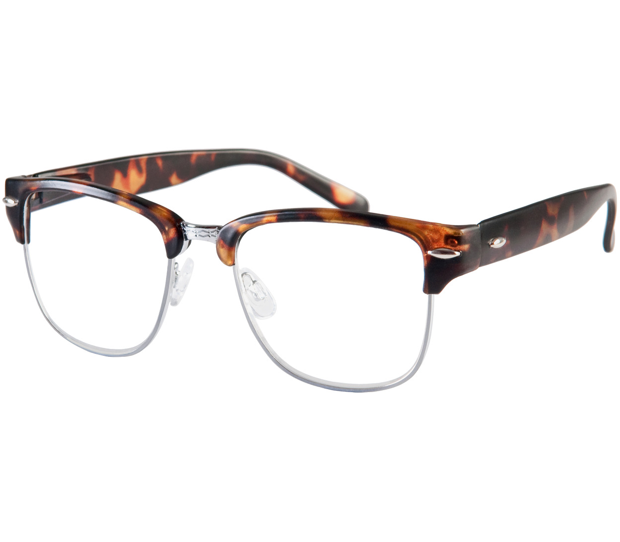 Main Image (Angle) - Harvard (Tortoiseshell) Retro Reading Glasses