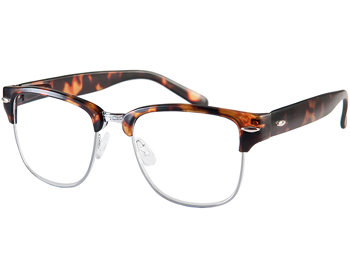 Harvard (Tortoiseshell) Retro Reading Glasses - Thumbnail Product Image