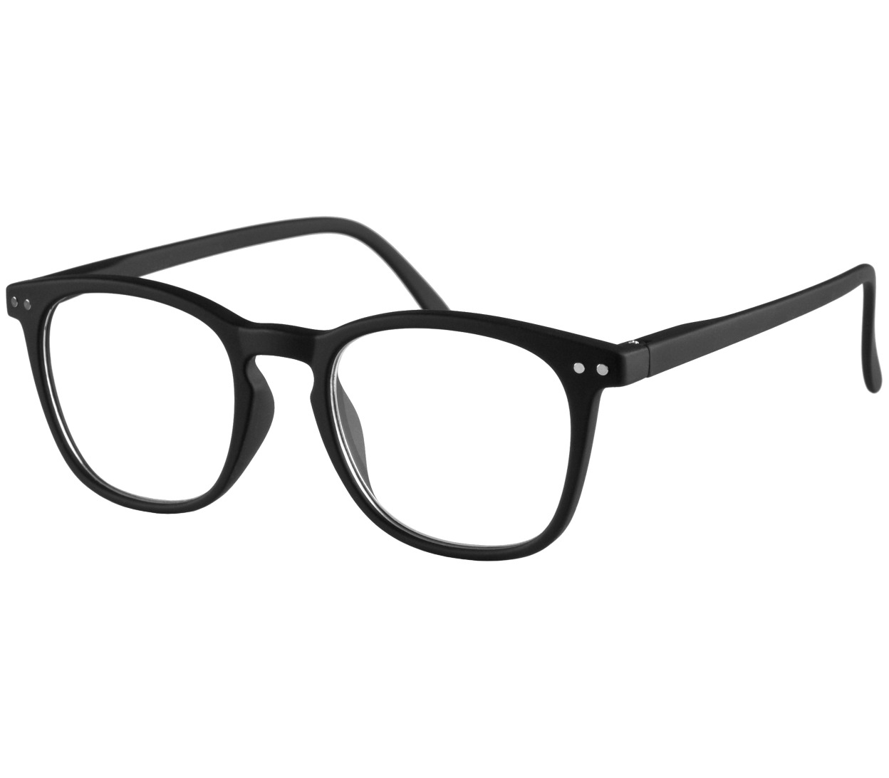 Main Image (Angle) - Scholar (Black) Retro Reading Glasses