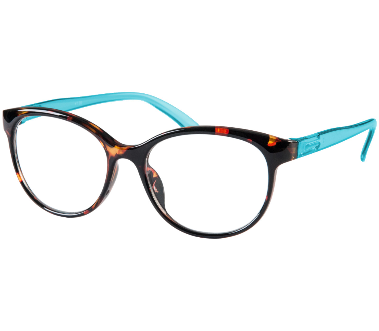 Main Image (Angle) - Lala (Blue) Cat Eye Reading Glasses