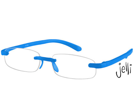Jelli Neon (Blue) Rimless Reading Glasses - Thumbnail Product Image