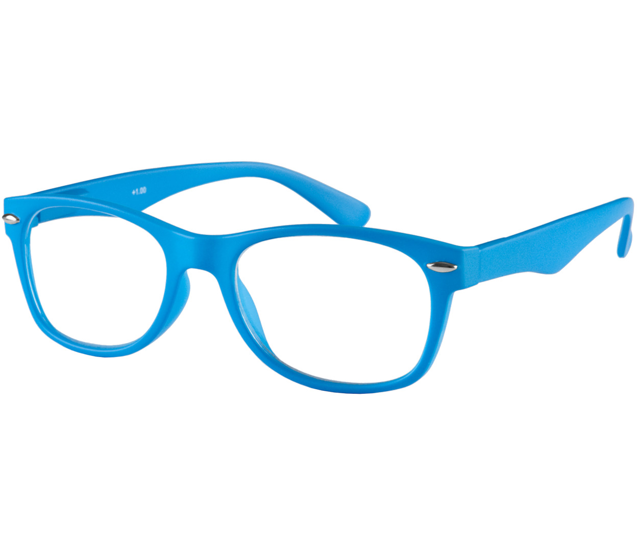 Main Image (Angle) - Harper (Blue) Retro Reading Glasses