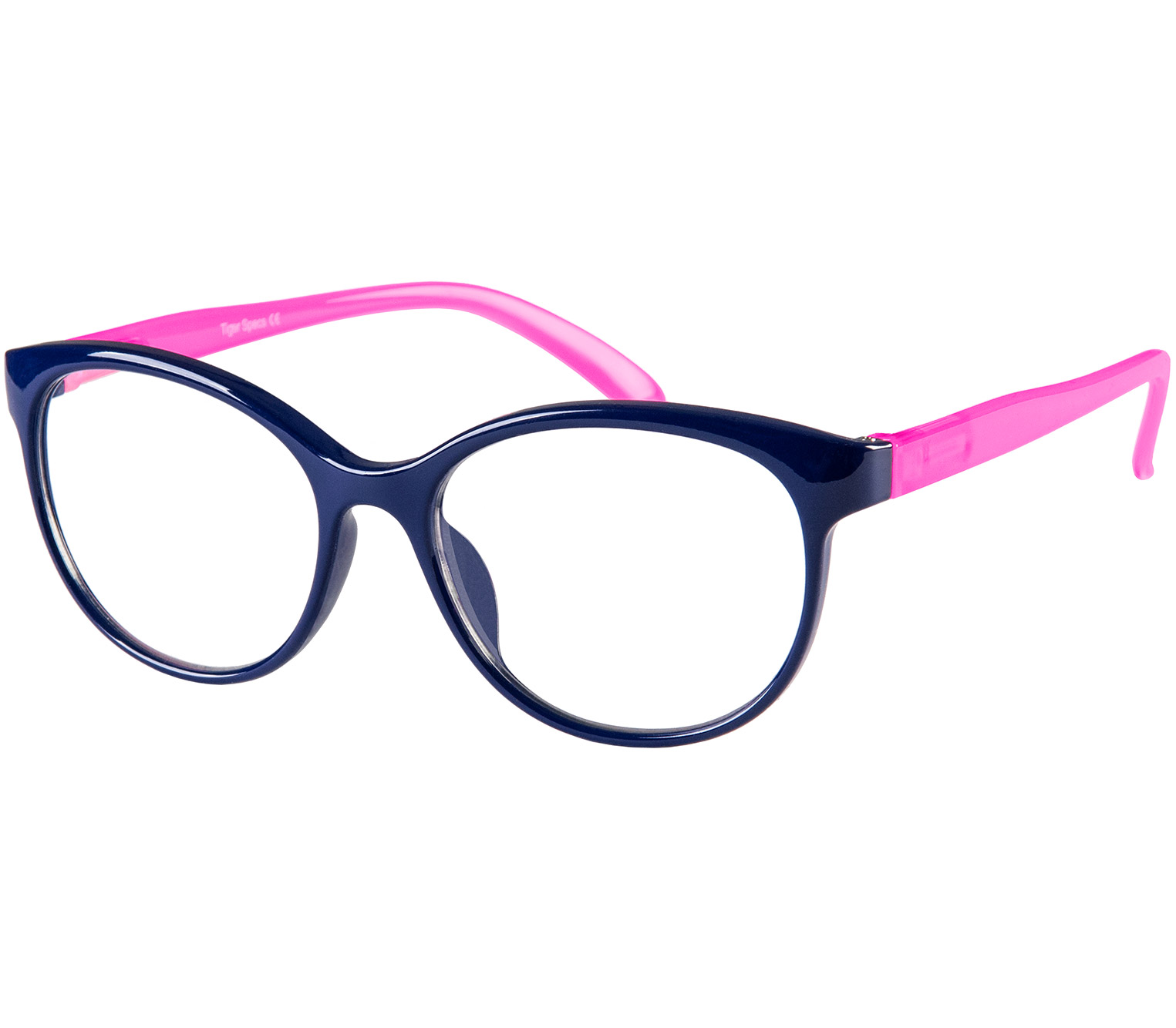 Main Image (Angle) - Angel (Blue) Cat Eye Reading Glasses