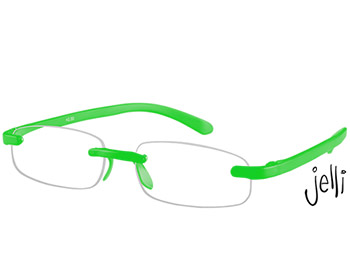 Jelli Neon (Green) Rimless Reading Glasses - Thumbnail Product Image