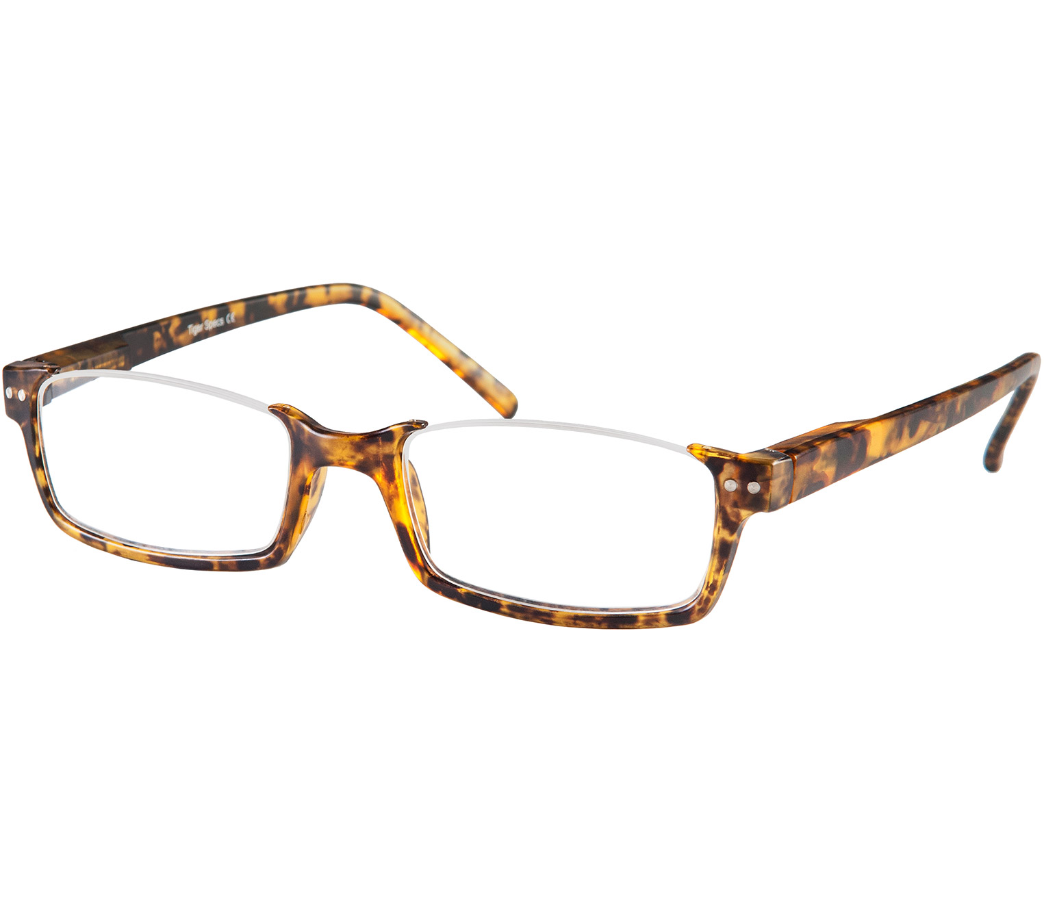 Main Image (Angle) - Newark (Tortoiseshell) Semi-rimless Reading Glasses