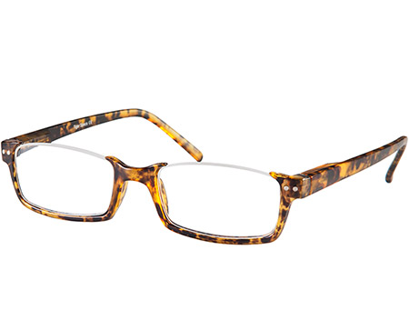 Newark (Tortoiseshell) Semi-rimless Reading Glasses - Thumbnail Product Image