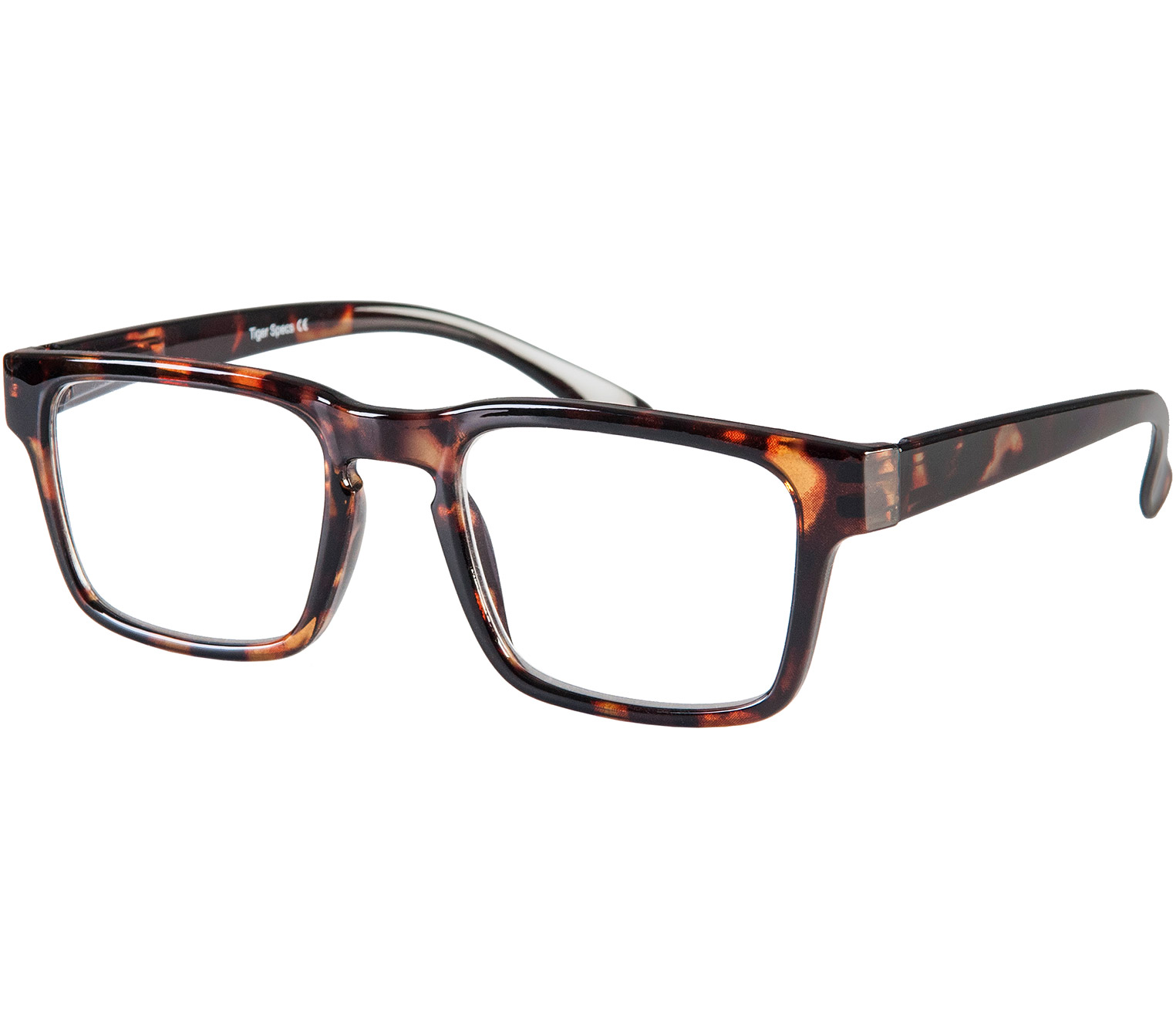 Main Image (Angle) - Storm (Tortoiseshell) Retro Reading Glasses