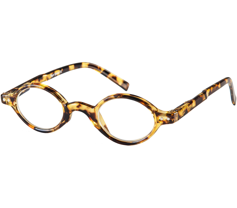 Main Image (Angle) - Chelsea (Tortoiseshell) Retro Reading Glasses