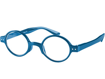 Woodstock (Blue) Retro Reading Glasses - Thumbnail Product Image