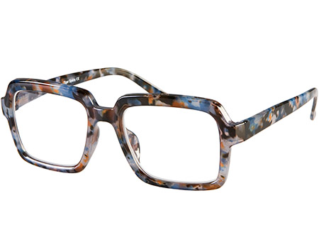 Downtown (Blue Tortoise) Retro Reading Glasses - Thumbnail Product Image