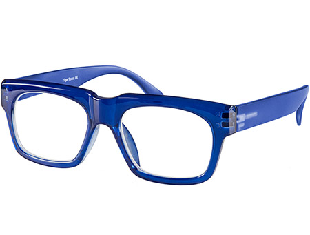 Showbiz (Blue) Retro Reading Glasses - Thumbnail Product Image