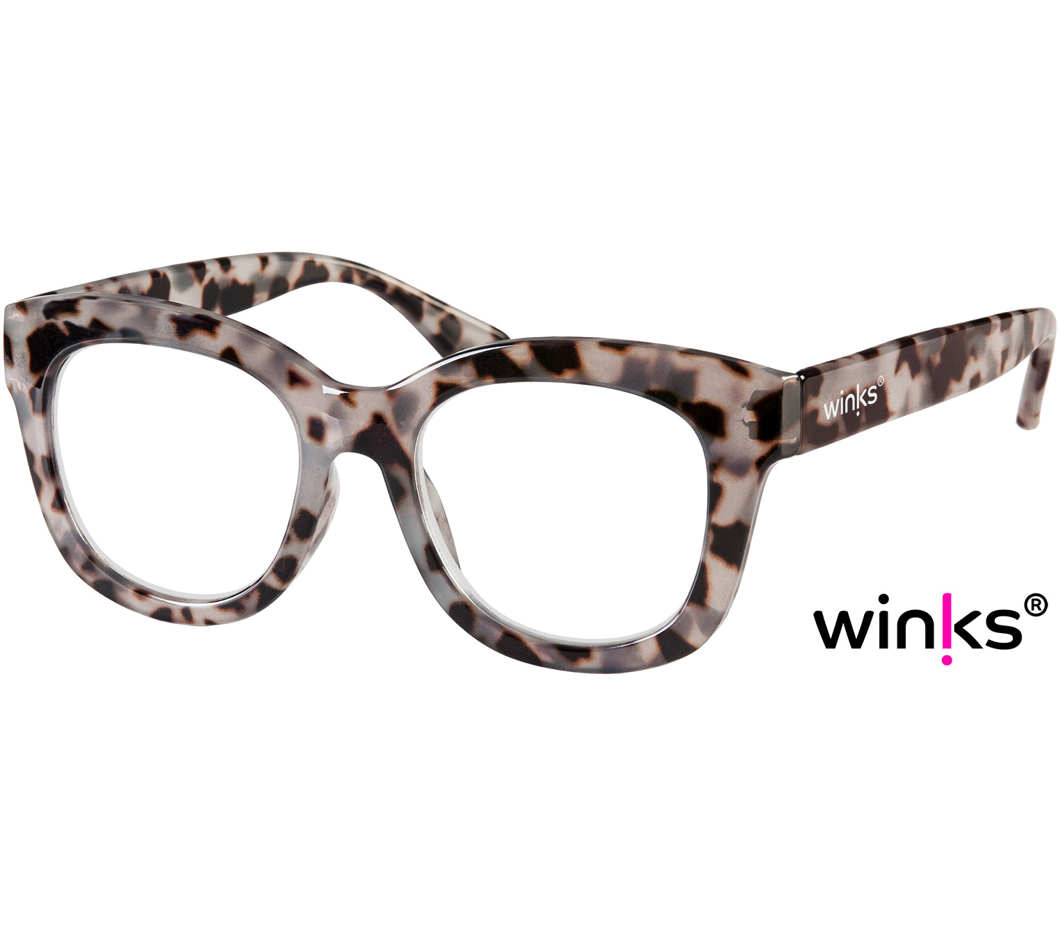 Main Image (Angle) - Paris (Grey Tortoise) Cat Eye Reading Glasses