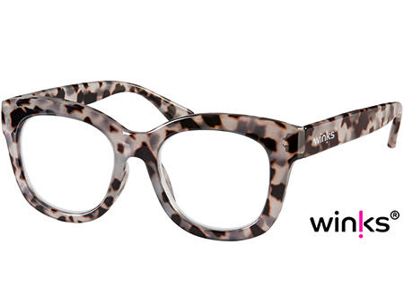 Paris (Grey Tortoise) Cat Eye Reading Glasses - Thumbnail Product Image