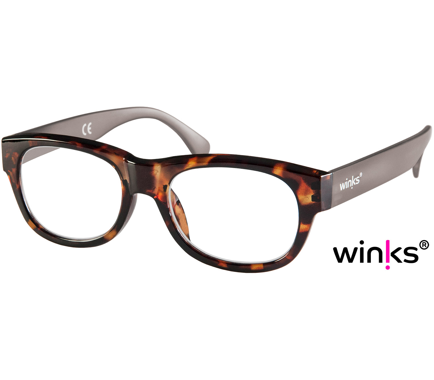 Main Image (Angle) - Max (Tortoiseshell) Retro Reading Glasses