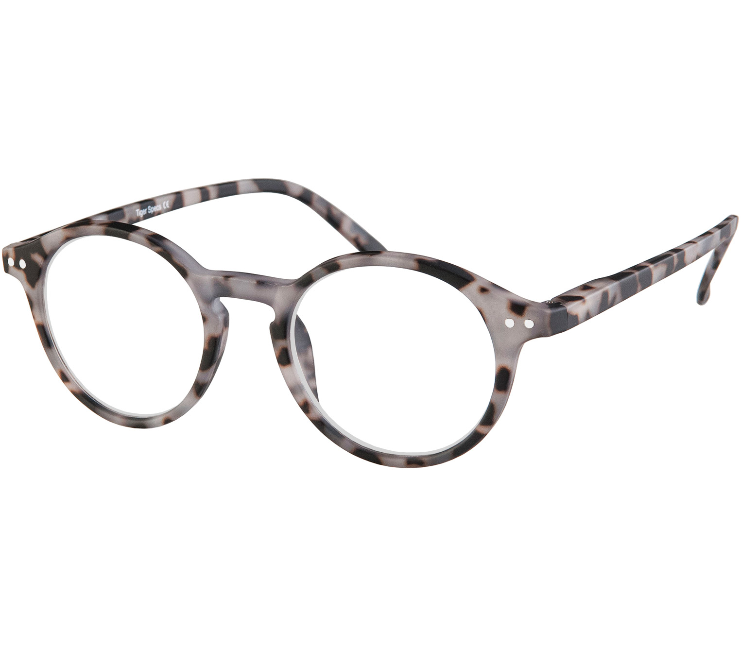 Main Image (Angle) - Oskar (Grey Tortoise) Retro Reading Glasses