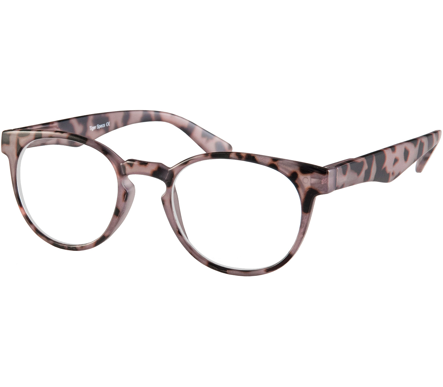 Main Image (Angle) - Fairfax (Grey Tortoise) Retro Reading Glasses