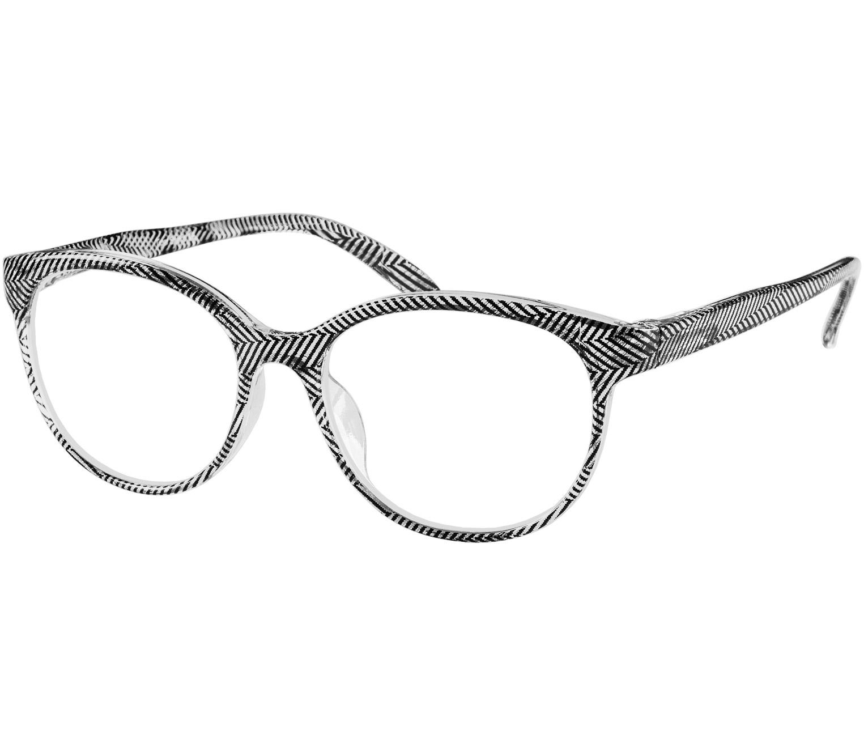 Main Image (Angle) - Lala (Black) Cat Eye Reading Glasses