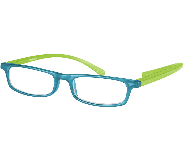 Main Image (Angle) - Jam (Blue) Neck Hanging Reading Glasses