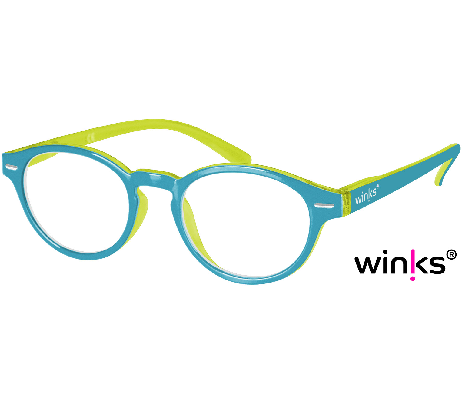 Main Image (Angle) - Espresso (Turquoise) Retro Reading Glasses