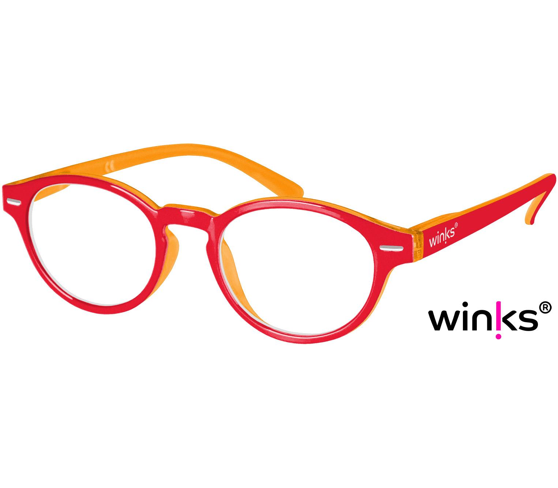 Main Image (Angle) - Espresso (Red) Retro Reading Glasses