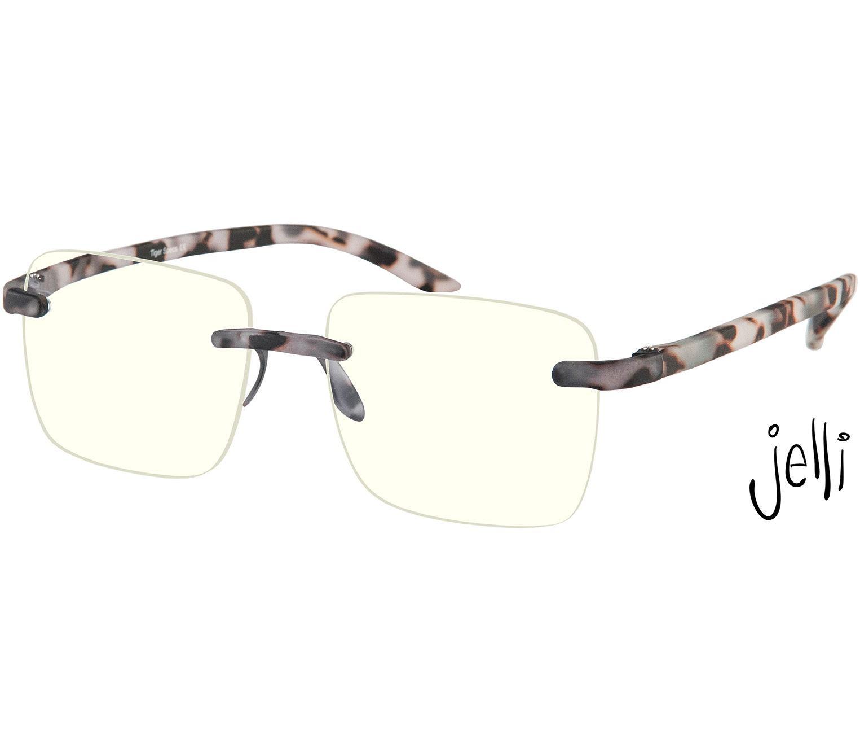 Main Image (Angle) - Jelli Max Digital (Grey) Blue Light Glasses Reading Glasses