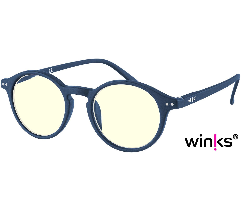 Main Image (Angle) - Oskar (Blue) Blue Light Glasses Reading Glasses