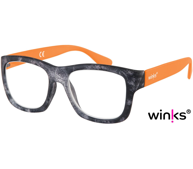 Main Image (Angle) - Lightspeed (Orange) Retro Reading Glasses