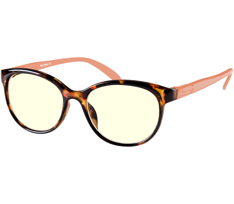 Main Image (Angle) - Lala (Orange) Blue Light Glasses Reading Glasses