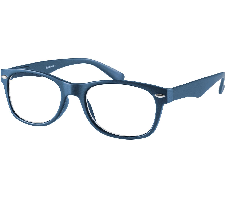 Main Image (Angle) - Harper (Blue) Retro Reading Glasses