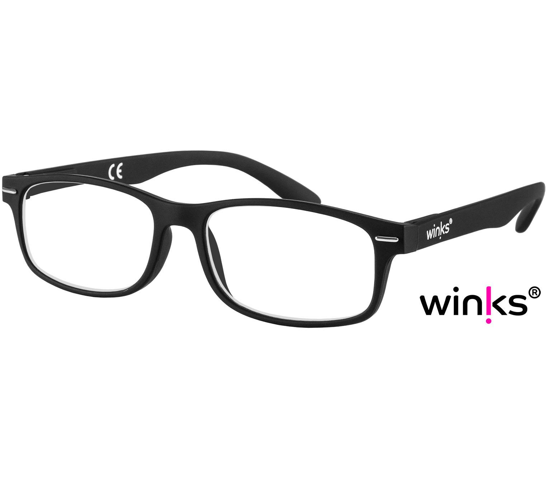 Main Image (Angle) - Bounce (Black) Classic Reading Glasses