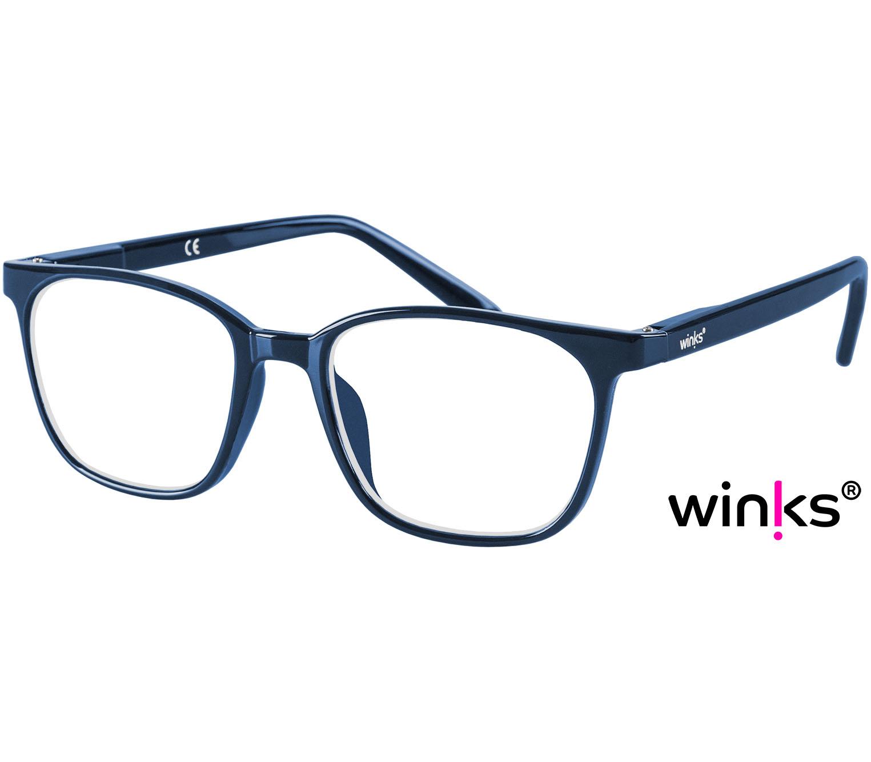 Main Image (Angle) - Artist (Blue) Retro Reading Glasses