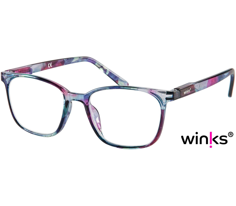 Main Image (Angle) - Artist (Multi-coloured) Retro Reading Glasses