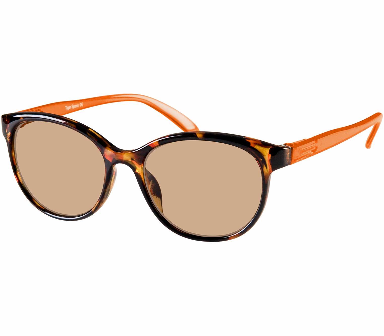 Main Image (Angle) - Mimi (Orange) Cat Eye Sun Readers
