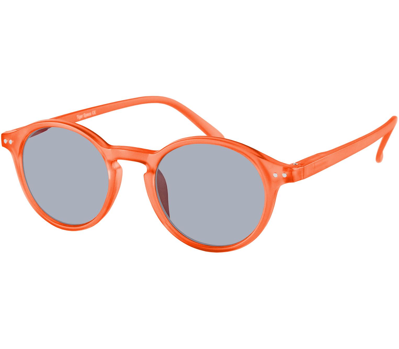 Main Image (Angle) - Palma (Orange) Retro Sun Readers