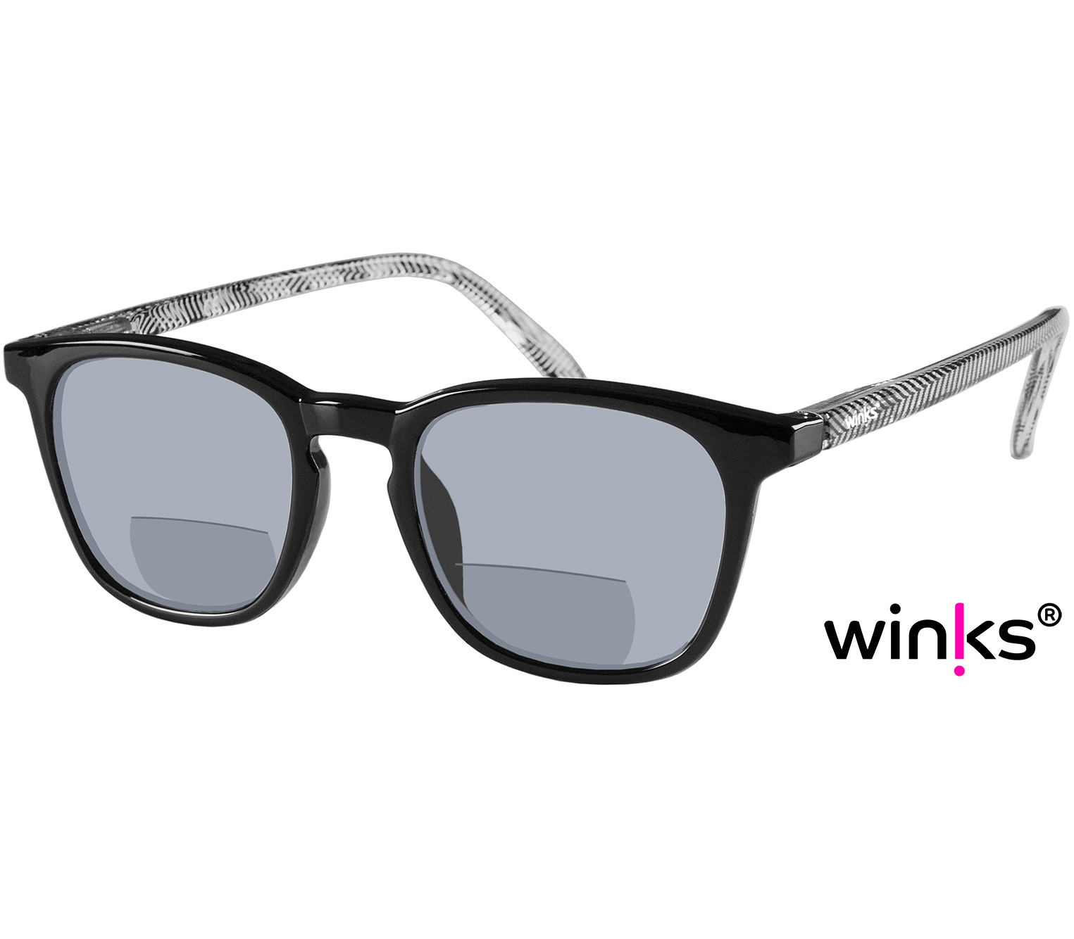 Main Image (Angle) - Capri (Black) Bifocal Sun Readers