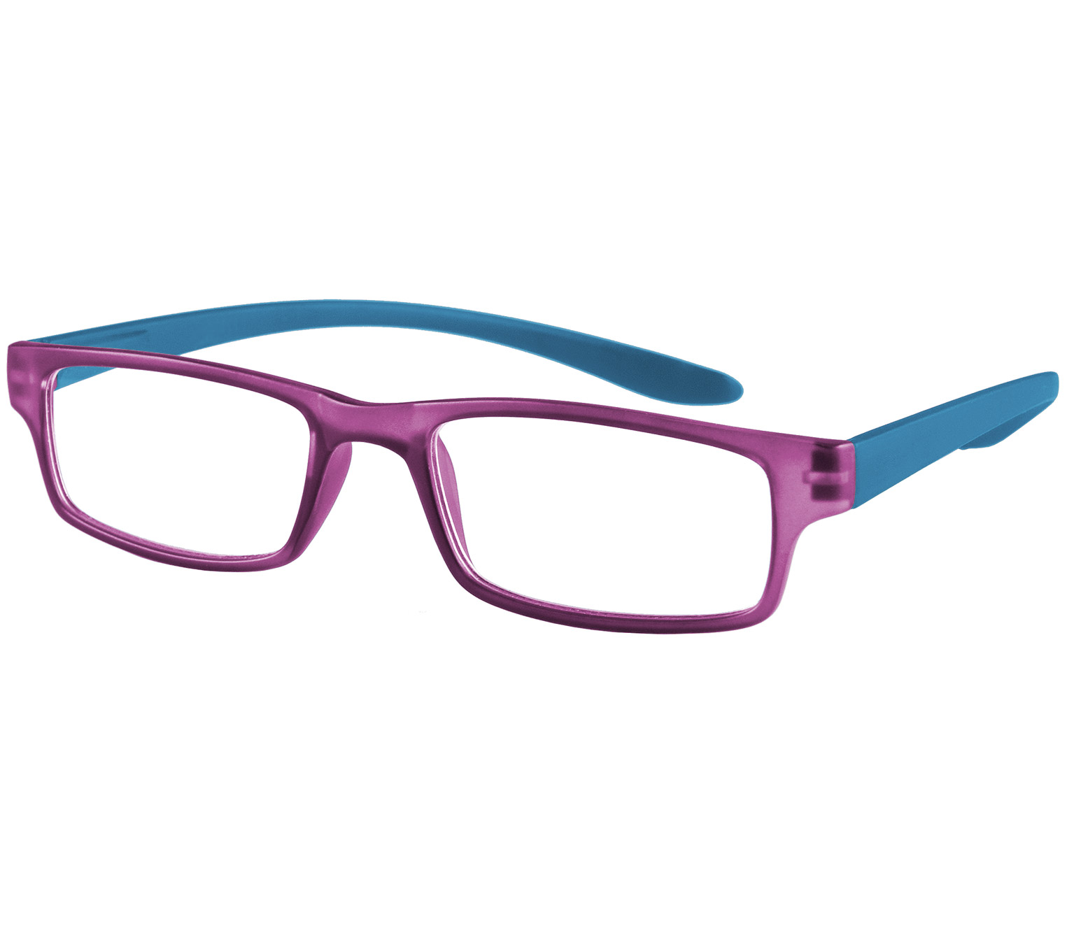 Main Image (Angle) - Swing (Purple) Neck Hanging Reading Glasses