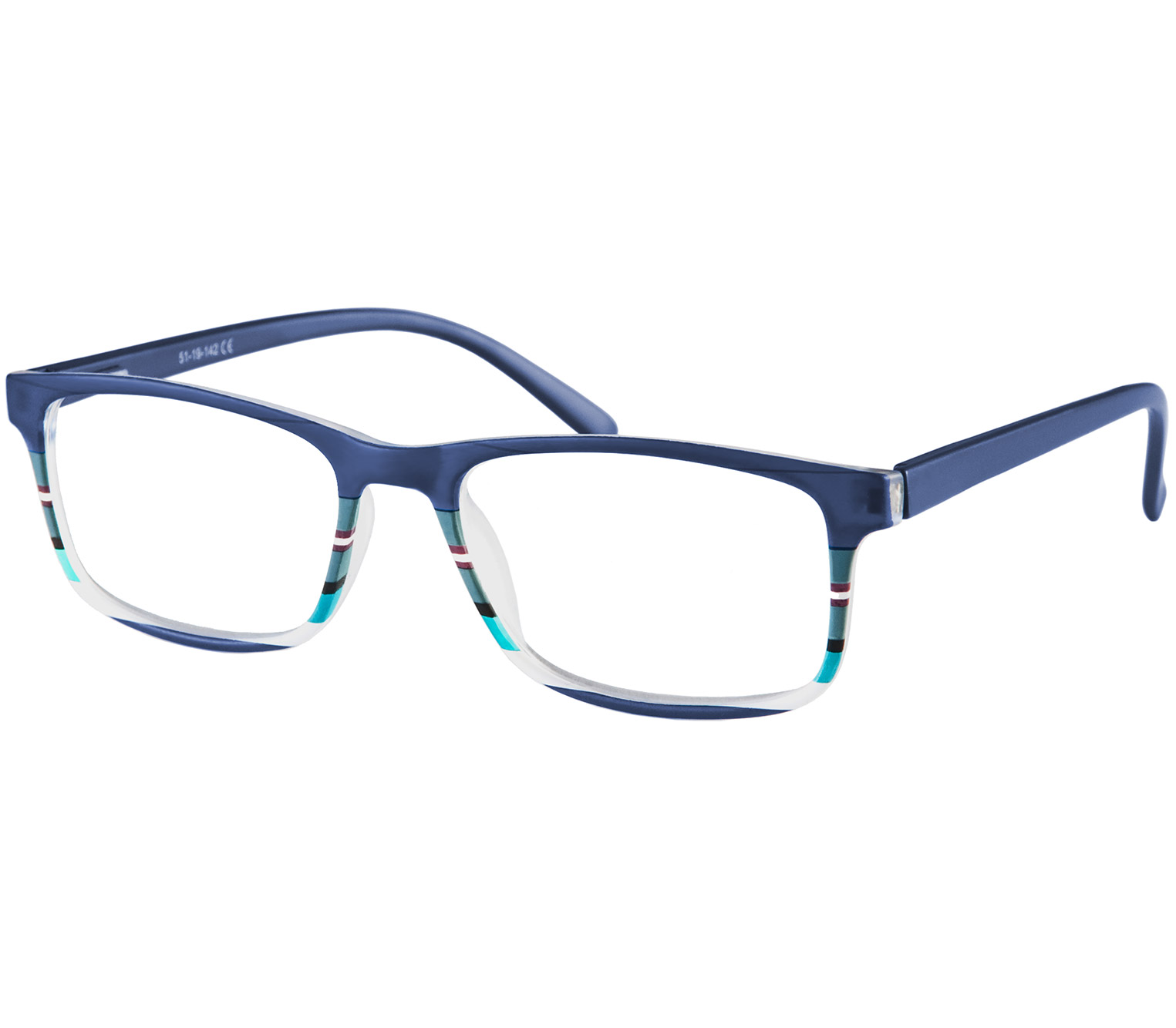 Main Image (Angle) - Samba (Blue) Classic Reading Glasses
