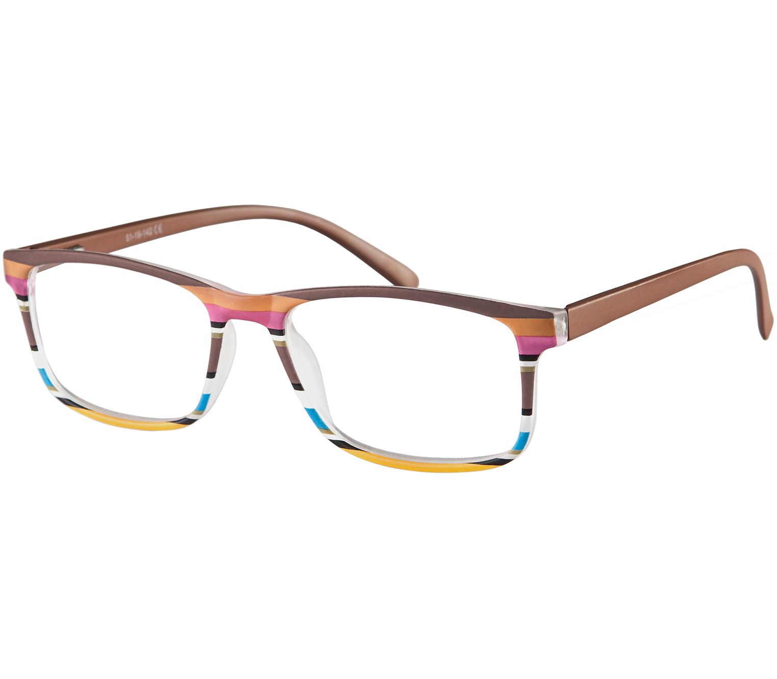 Main Image (Angle) - Samba (Brown) Classic Reading Glasses