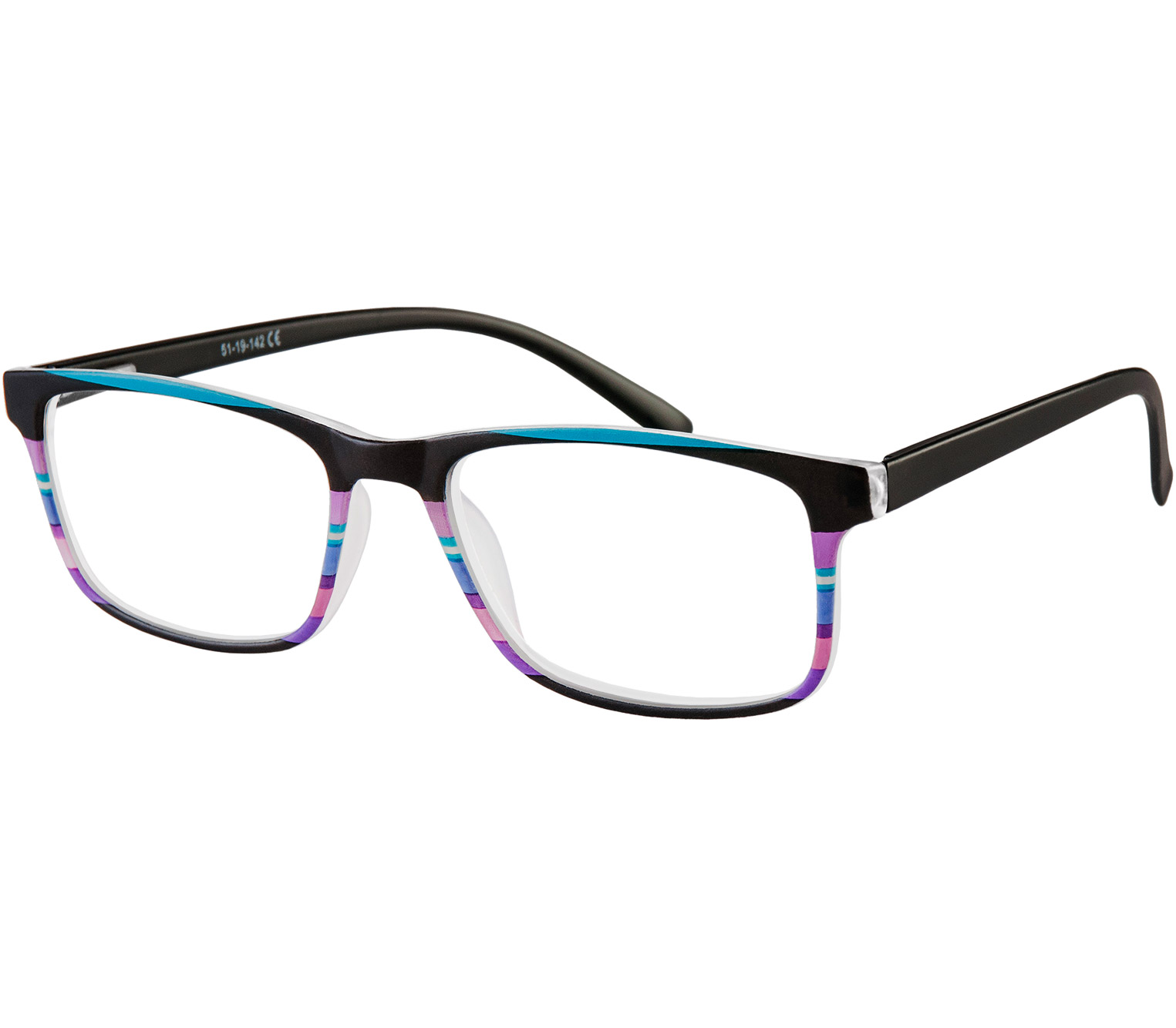 Main Image (Angle) - Samba (Black) Reading Glasses