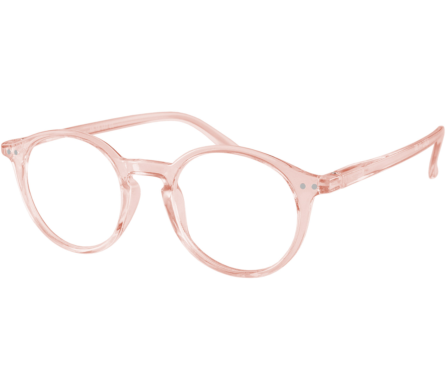 Main Image (Angle) - Oskar (Pink) Retro Reading Glasses