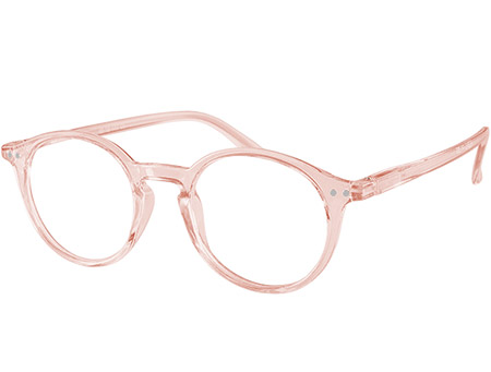 Oskar (Pink) Retro Reading Glasses - Thumbnail Product Image