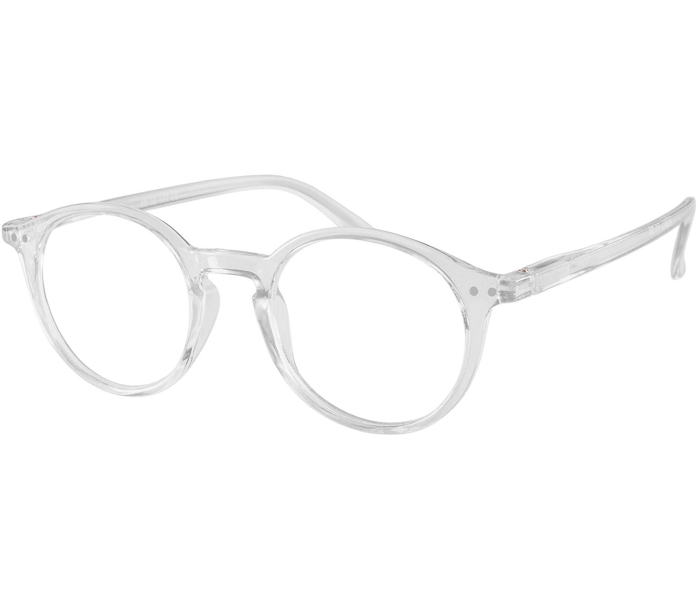 Main Image (Angle) - Oskar (Clear) Retro Reading Glasses
