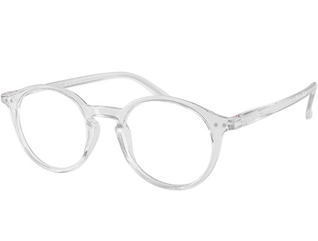 Oskar (Clear) Retro Reading Glasses - Thumbnail Product Image