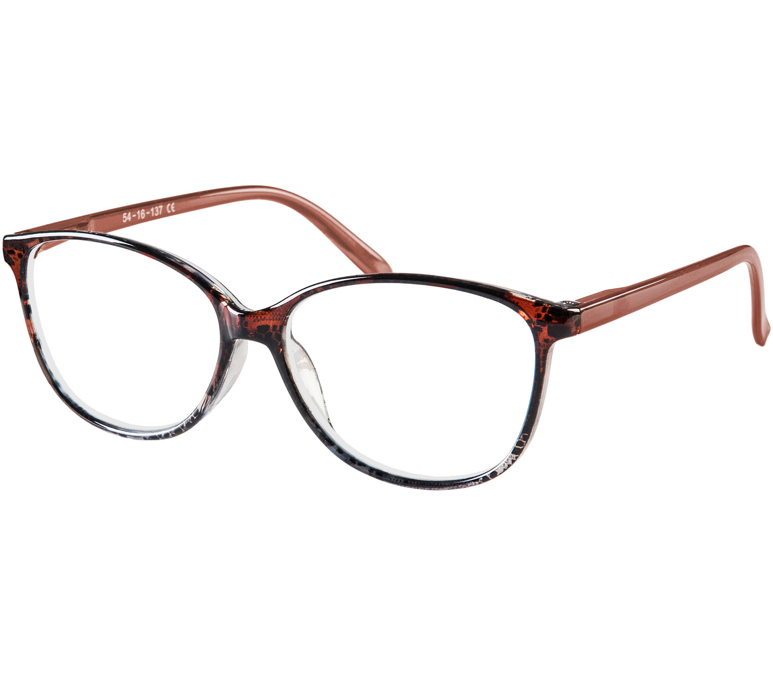 Main Image (Angle) - Zara (Brown) Cat Eye Reading Glasses