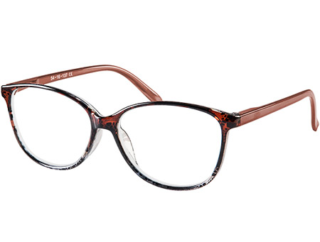 Zara (Brown) Cat Eye Reading Glasses - Thumbnail Product Image
