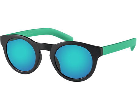Renegade (Black) Retro Sunglasses - Thumbnail Product Image